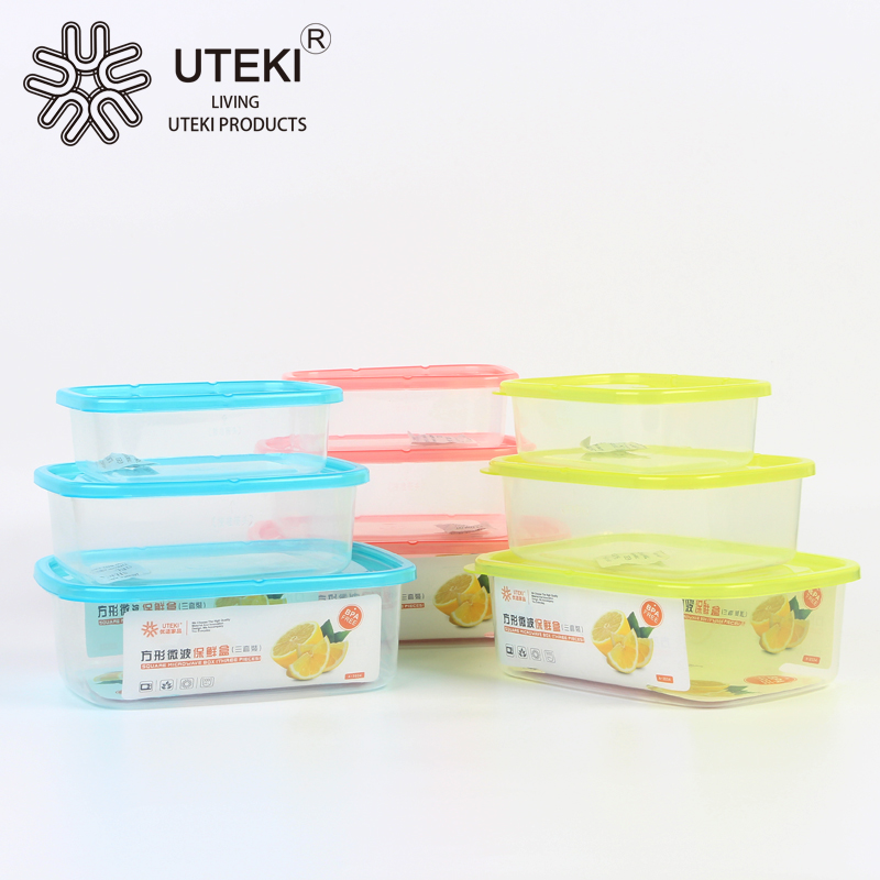 Wholesale plastic airtight food storage container with sealed lid