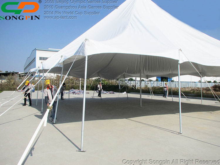 12x18m Luxury hotel stretch pole tent for 200 people event party