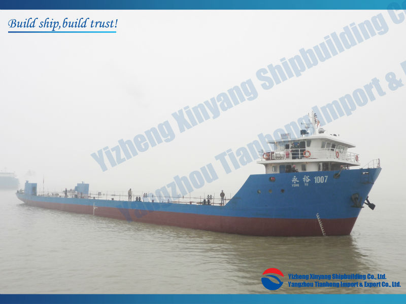 DWT 2000t 2800t 3000t 4000t self propelled deck barge landing craft in stock for sale