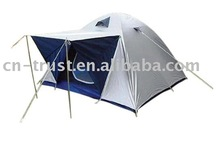 Silver coating family double layer camping tent
