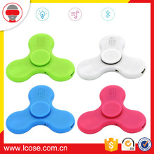 Lcose Factory Price Portable Wireless Bluetooth Speaker Fidget Hand Spinner With LED LIGHT Toyes For Kids