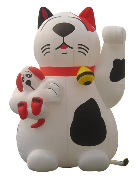 inflatable giant advertising cat / inflatable standing outdoor cartoon