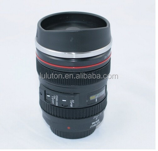 Caniam Camera Lens Coffee Cup, Travel Mug - Camera Eos 24-105Mm Model Stainless 400Ml Thermos