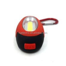 2017 New Promotional COB Led Keychain Light with Magnet and Carabiner