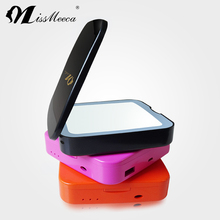 Fashionable Porfect Portable Double Sides LED Makeup Mirror with Power Bank