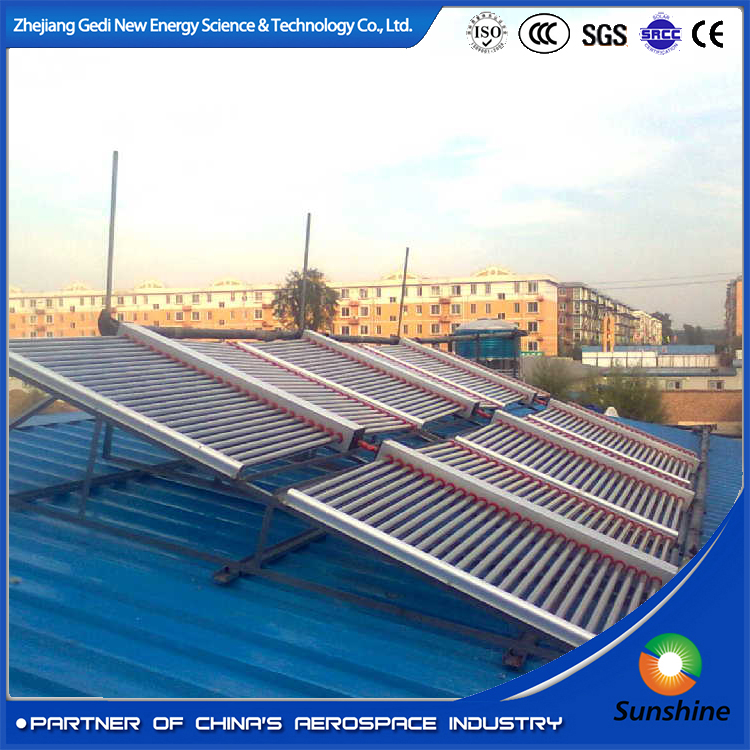 Unpressurized evacuated vacuum tube solar collector manifolds solar collector parts solar mainfold collector for big project