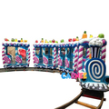 Popular Sweet Themes Park Entertainment Games Electric Kids Train on Tracks