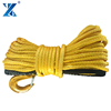 J-MAX 12 strand blue synthetic atv/utv winch cable/rope for tractor tug winch lines