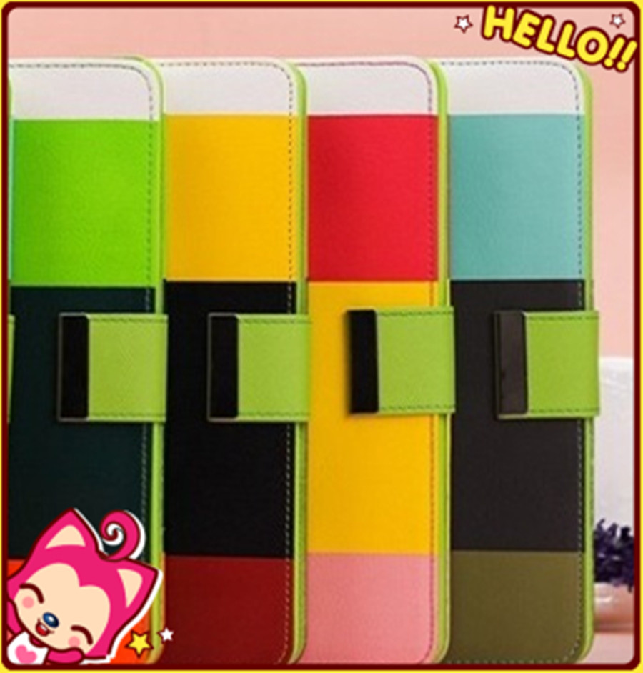 Rainbow Colorful Wallet Leather Case Cover for iPad mini