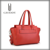 Hot selling high quality ladies pink patent leather handbag