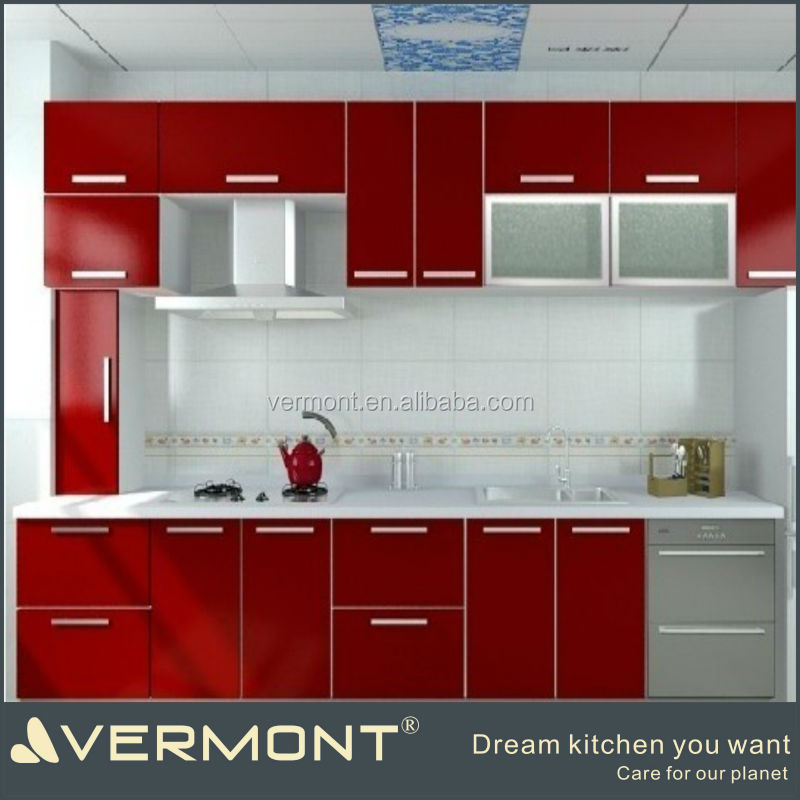 hot sale high gloss white painting kicthen