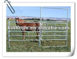 3m Long Galvanized pipe Farm Equipment Portable Horse Panel Gate