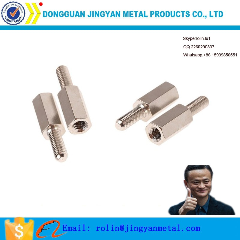 OEM M3*40 galvanized steel screw male and female steel standoff screw
