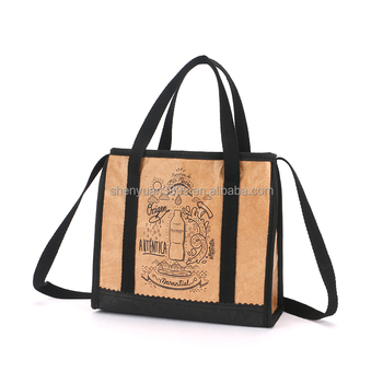 2016 China supplier Dupont paper Picnic bag,custom printed paper tote bag for Picnic
