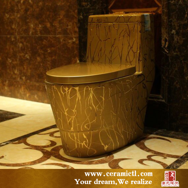 Wholesale alibaba unique gold plated ceramic toilet price