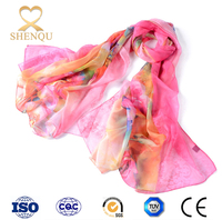 Large scarf hijab cheap polyester gift for women shop online digital print custom design silk chiffon scarf stoles and shawls