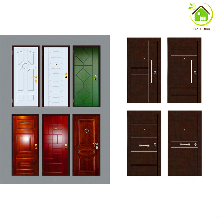 Italian steel wooden door design armored doors italian design wooden door
