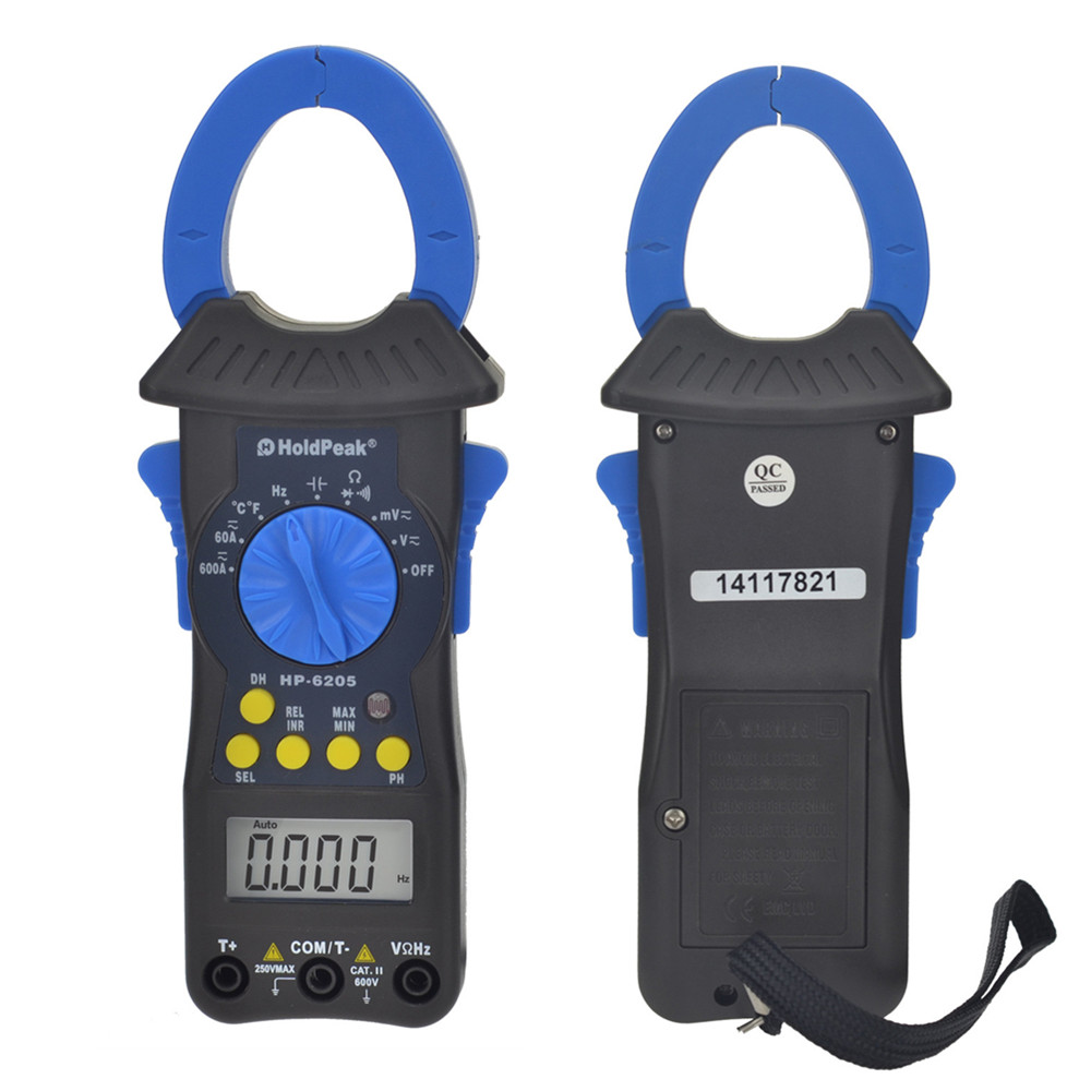 clamp multimeter HoldPeak HP-6205 voltage data logger low price power clamp meter