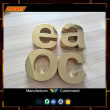 3D Gold mirror electro painting metal free standing letters