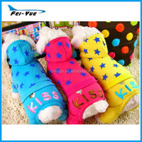 Wholesale Factory 100% Cotton Star Pet clothes with hood winter
