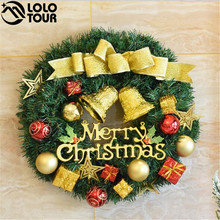 Wholesale Decorative Artificial Handmade Hanging Wreaths PVC Material Tinsel Christmas Garland