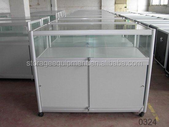 china supplier clear tempered glass display cabinet for toy