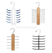 TIE Series Non-Slip Metal/Wooden Tie Belts Racks Organizers Hangers For Closet Storage