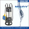 Stainless Steel Body / Iron Impeller 2hp sweage submersible pump with Au/ Euro Plug WQ(D)X