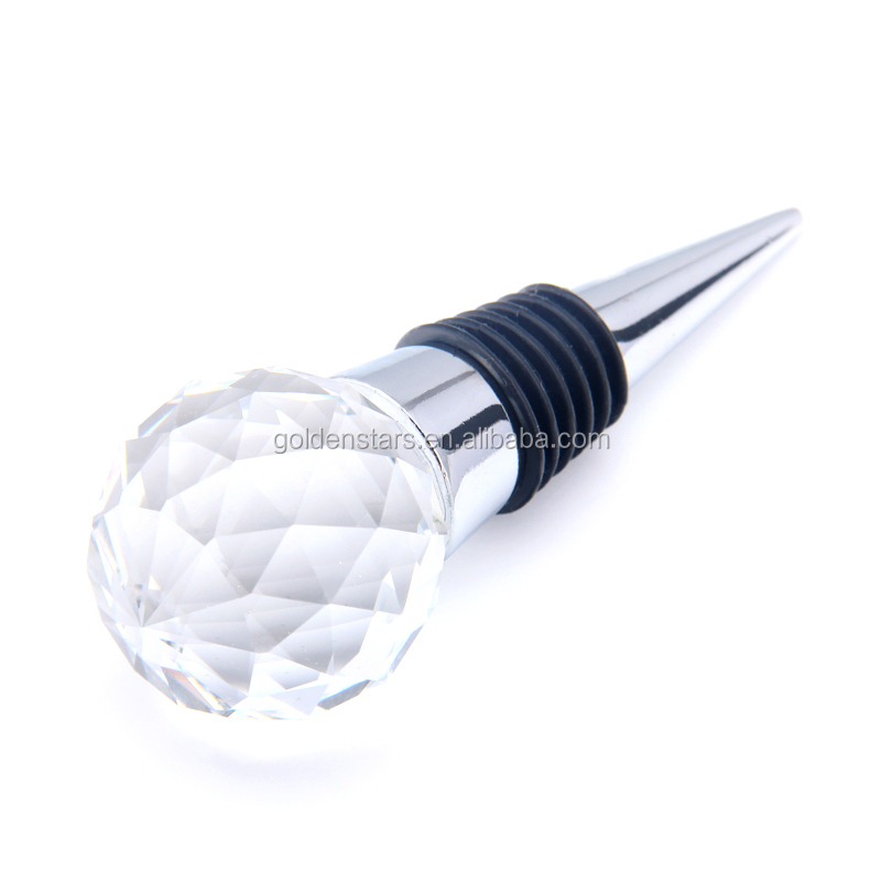 Hot sale glass wine stopper for wedding gifts handmade wine bottle stoppers for Wine accessories