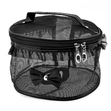 zipper mesh bag mesh cosmetic case makeup case