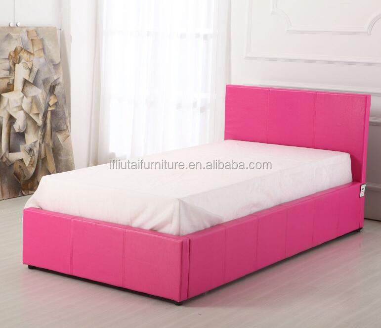 2017 modern pink prado single size colorful leather beds