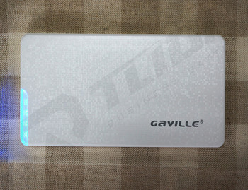 Wholesale 8000mAh GAVILLE brand Power Bank OEM Logo plastic polymer battery charger for mobile phone