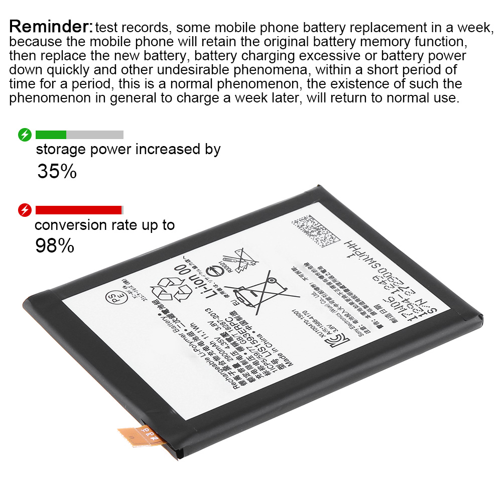 Replacement Battery for Sony Xperia z1 z2 z3 z4 z5 L35H OEM battery 2700mAh