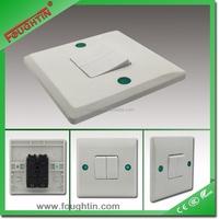 2 GANG 1 WAY SWITCH 10A 250V UK1303 GREEN COVER