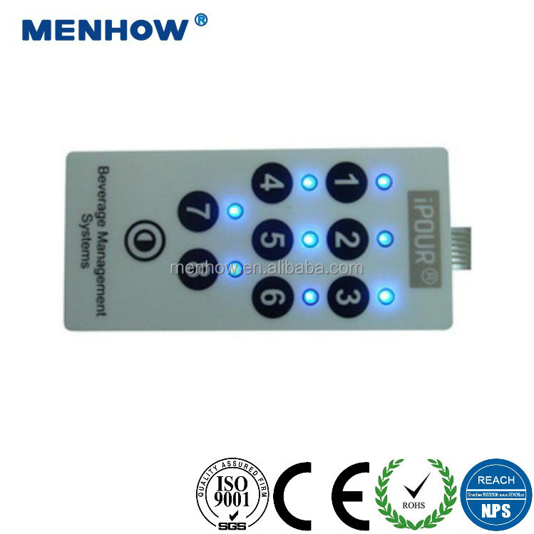 2017 new design electronic appliance polyester foil membrane keypad circuit