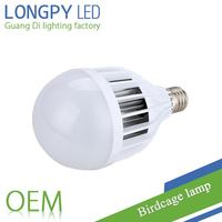 18W birdcage lamp Energy saving LED Bulb in plastic body with factory price