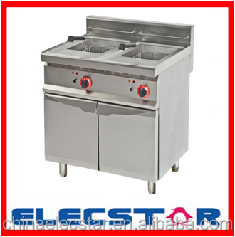 Stainless steel frying machine, gas/electric fryer machine, deep fryer 003