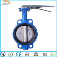 JIS Hand Level Clamp Butterfly Valves 10K DN150