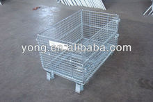 Logo available galvanized steel srorage cage container