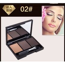 3 Colour Eyebrow Powder/Shadow Palette Professional Make Up Eyebrow With Brush