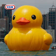 Inflatable Duck Yellow Ducklings Inflating Model