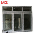 Open outside casement window cheap pvc window