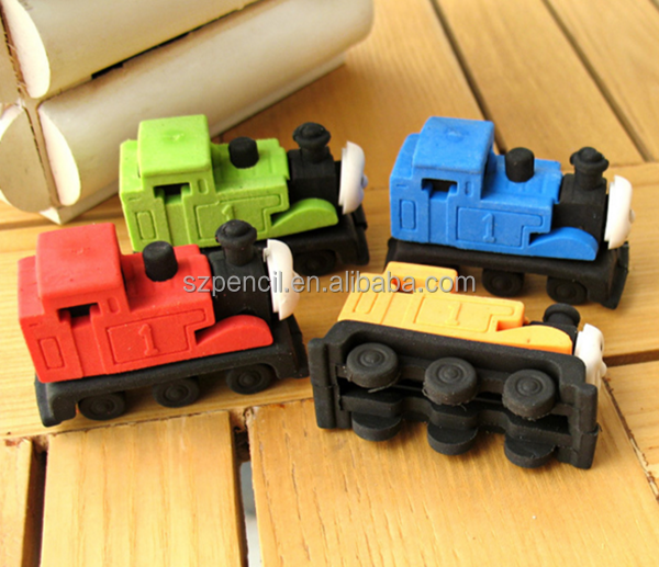 Fancy Thomas Train Shaped Puzzle Rubber Eraser For Kids Toy