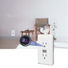 720P h.264 white wireless WiFi wall socket Security IP CCTV camera