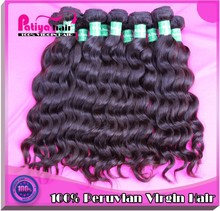 "Great lengths 10""-32"" inch wet and wavy weave unprocessed peruvian virgin hair natural wave real human hair weft machine made"