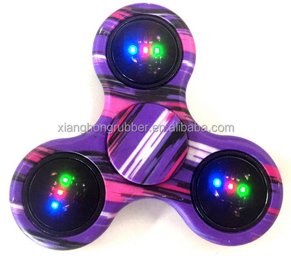 Led Fidget Hand spinner with Printing Killing Time Toys Spinner Toy Stress Reducer
