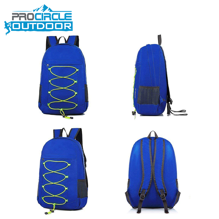 Rucksack Shoulder Folding Nylon Waterproof Duffel Bag Laptop Backpack <strong>School</strong>