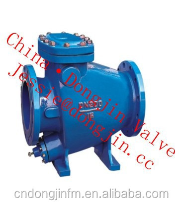 Low Resistance dashpot check valve from China Wenzhou Factory