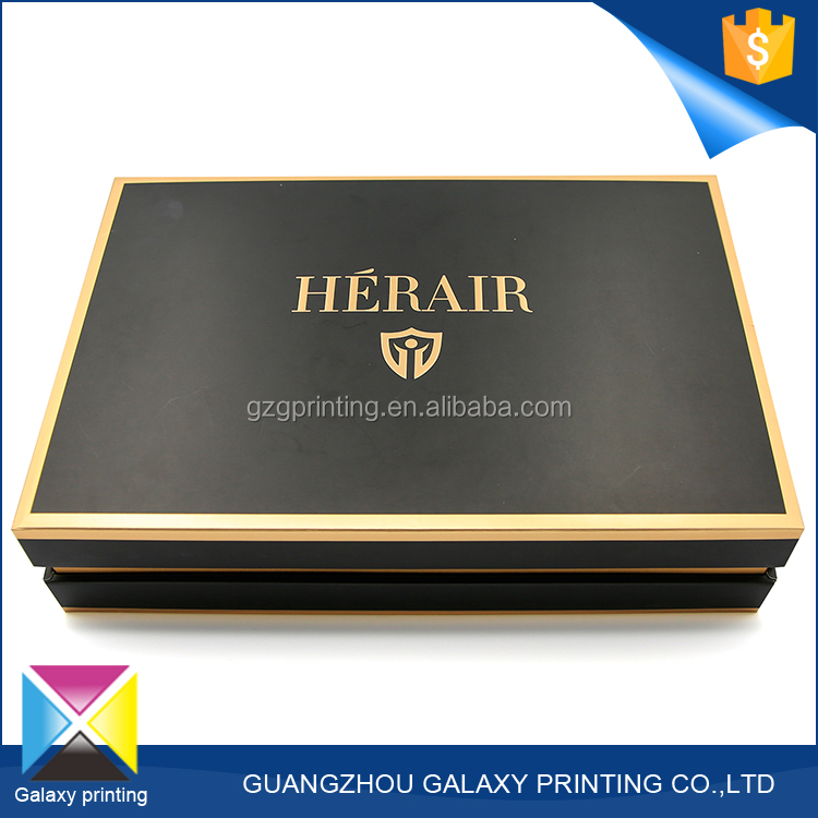 Hot-selling promotional custom different types gift black luxury clothing packaging box