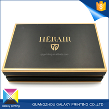 Hot-selling promotional custom different types paper box gift black luxury watch / clothing packaging box
